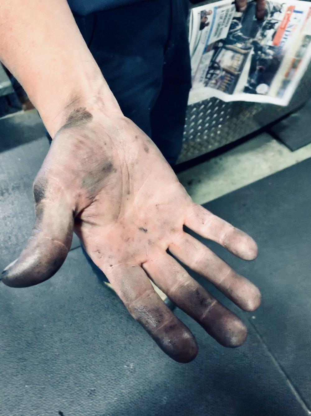 Keith adjusts ink